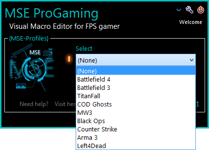 Macro for BF4 BF3 CSGO COD – MSE Progaming Client ver 1 3 9 99a core