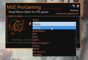 Macro for BF4 BF3 CSGO COD – MSE Progaming Client ver 1 3